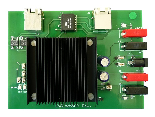 Evaluation Board for Ag5500 DIL POE Ultra Module